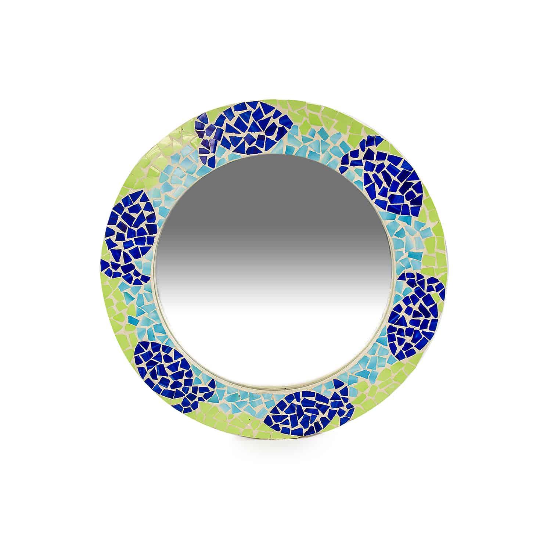 กระจกโมเสกวงกลม Mirror modaic ceramic hand made