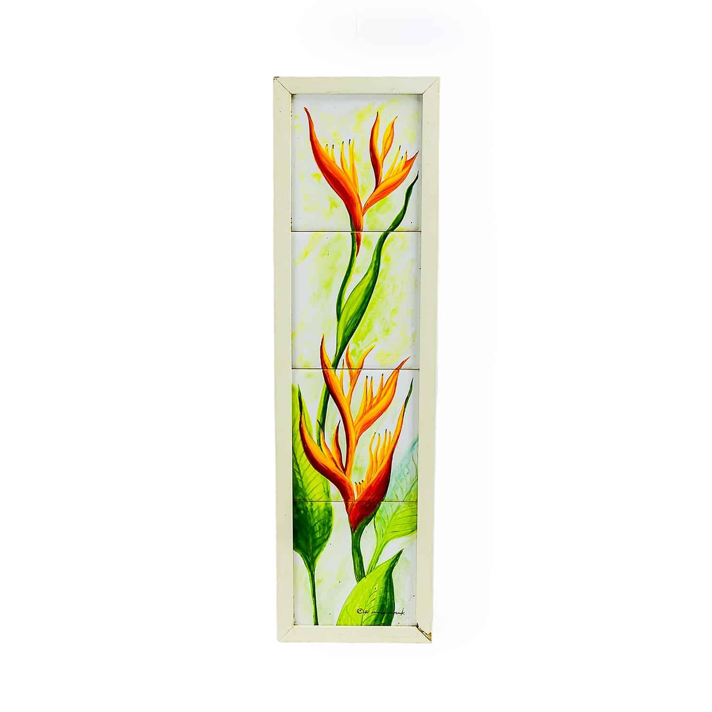 ภาพกระเบื้องเพ้นท์  Tiles handpainted with frame