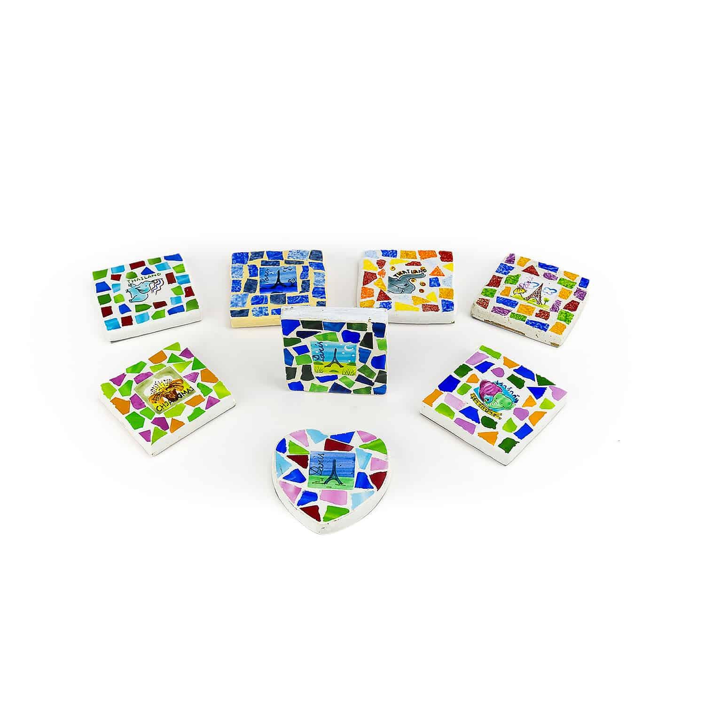 โมเสคแม่เหล็ก  Mosaic magnet  magnet handmade/painted