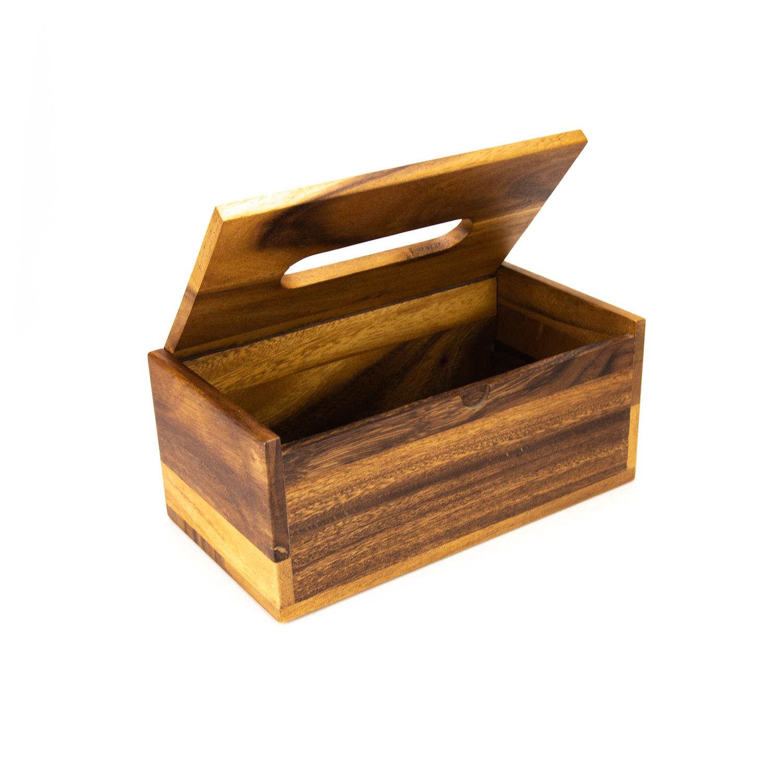 Acacia tissue box