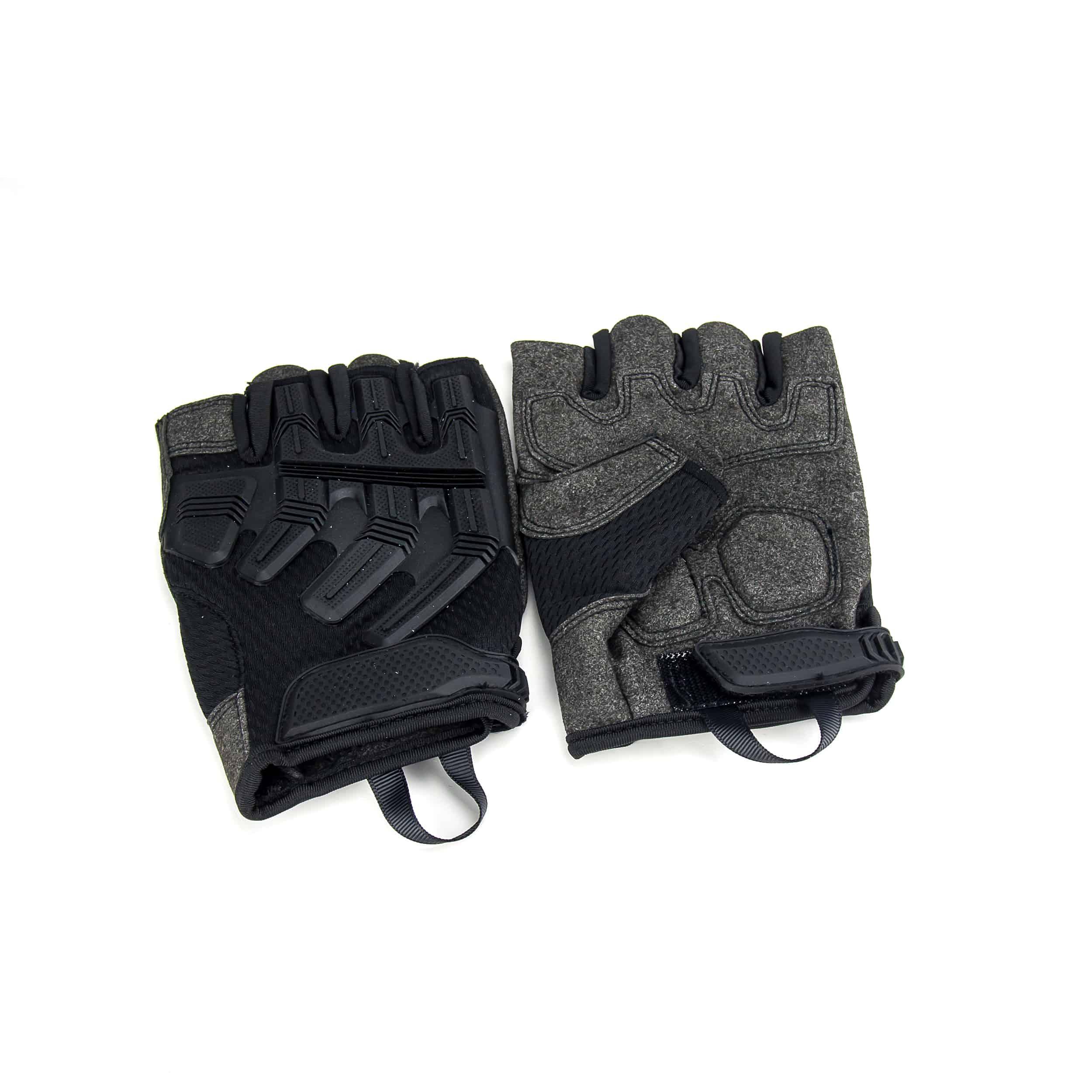 ถุงมือ แบบครึ่งนิ้ว สีดำ