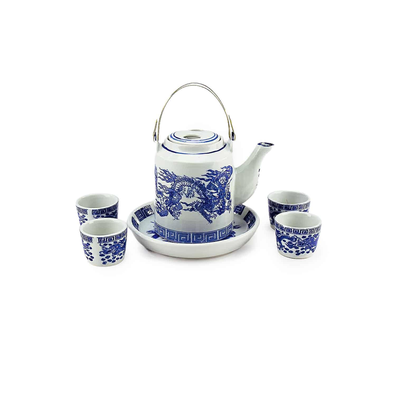 ชุดกาน้ำชาจีนลายมังกร